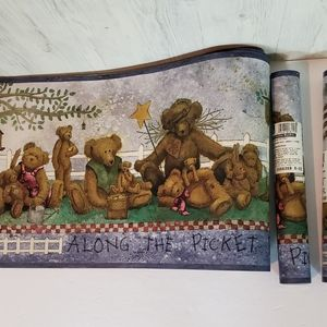 York Wallpaper Border Teddy Bears 3 Rolls Kids